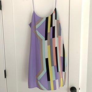 Tibi multi-colored sulk slip dress 8
